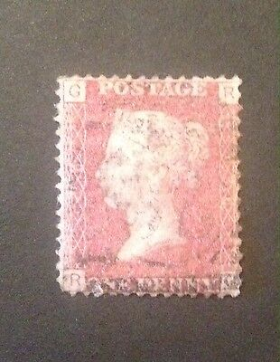 GB QV SG 43 1d Rose-Red. Plate 136