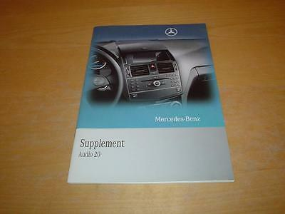 MERCEDES AUDIO 20 C CLASS W204 RADIO CD 180 200 220 250 Owners Handbook Manual