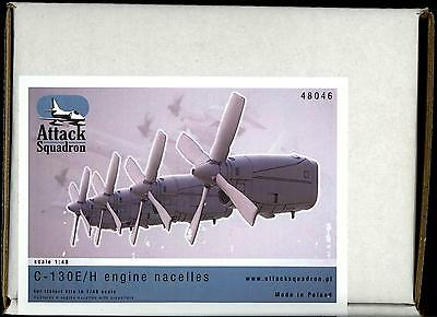 Attack Squadron Models 1/48 C-130E/H ENGINE NACELLES WITH PROPELLERS Resin Set