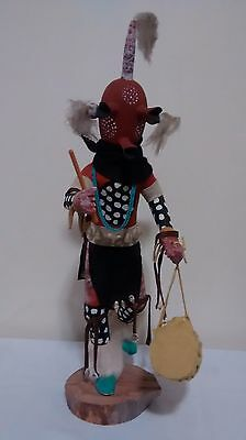 Kachina Doll Hopi Mudhead Clown Carving DRUM DANCER  IMCB