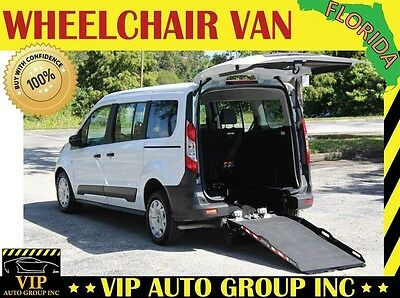 2015 Ford Transit Connect XL Mini Passenger Van 4-Door 2015 Ford Handicap Wheelchair Van Rear Entry Ramp Accessible Lift 9k Warranty