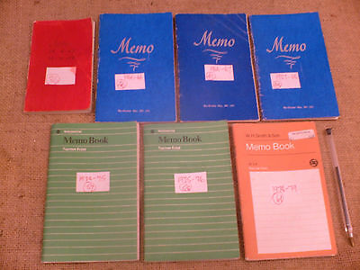 Original 1960s onwards Handwritten Diaries Of Rambler In Wales & Other Places