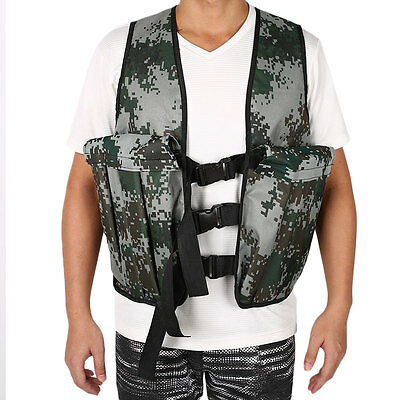 Military Camouflage Weighted Vest Endurance Training Fitness Waistcoat Oxford