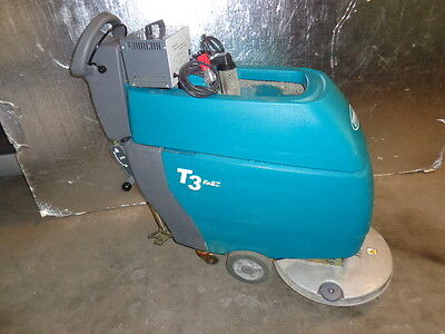 "TENNANT 19"" T3 Fast Floor Scrubber w/Lester Electrical Automatic Battery Charger"
