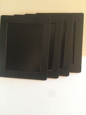 """Lot Of 4 - Filemate Joy Filemate 7"""" Digital Photo Frame Black 3FMDPF070D2 -AS IS"""