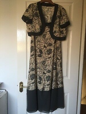 Ladies Jacques Vert Dress And Jacket Size 14