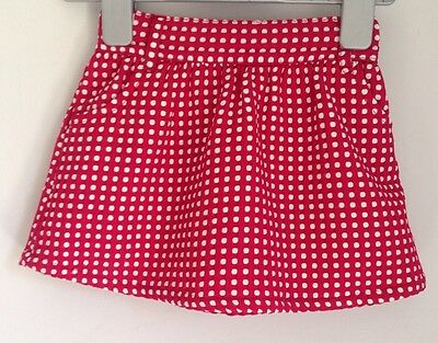 Mothercare Red Spotted Baby Skirt Size 18-24 Months