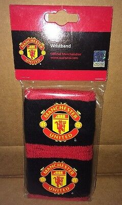 Official Manchester United 2 x Wristbands Red & Black Brand New