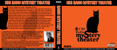 CBS RADIO MYSTERY THEATER - Old Time Radio 16 mp3 CD - 1399 Shows - 2 BOX SET