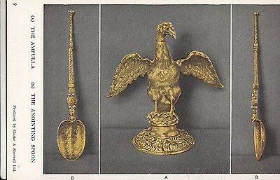 CP62.  Vintage Postcard. The Ampulla and Coronation Anointing Spoon.