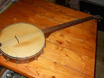 VINTAGE STADIUM 5 string BANJO COLLECTIBLE ANTIQUE MUSICAL INSTRUMENT