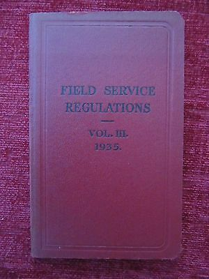 1935 Field Service Regulations Vol. 3 Operations - Higher Formations Army FC71