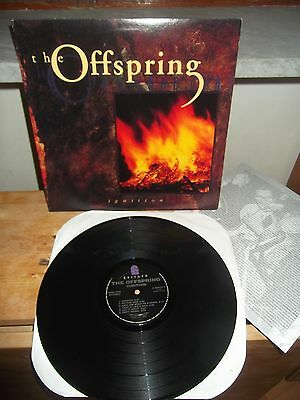 """The Offspring """"Ignition"""" LP EPITAPH USA E-86424-1 1992 - INSERT"""