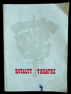 Royalty Theatre, Programme, 1960, The Visit, With Alfred Lunt & Lynn Fontanne