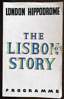 London Hippodrome Theatre Programme, The Lisbon Story, A Play With Music 1940s