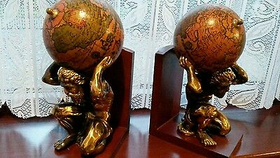 Fabulous Pair Of Large Atlas Bookends