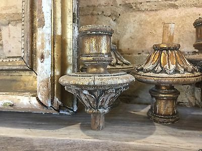7 Distressed Gold Gilt Wooden Candle Holders Xmas Decoration Table Centrepiece