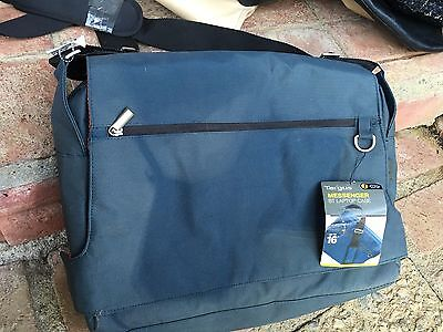 "BRAND NEW WITH TAGS TARGUS Messenger Laptop Case Bag up to 16"" Blue"