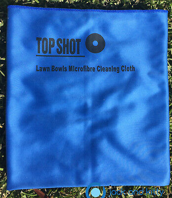Brand New Blue Microfibre Lawn Bowls Top Shot Polish Polishing Drying Bowl Cloth