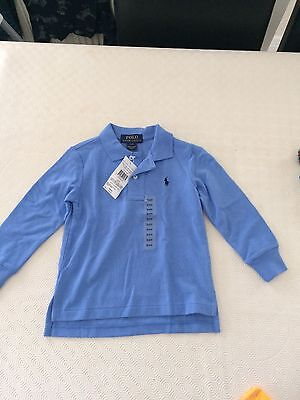 BNWT Genuine Ralph Lauren Long Sleeved Polo Shirt Age 2