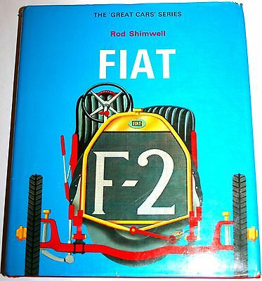RARE FIAT CARS BOOK by R Shimwell, superb photos incl DINO, SPIDER X19, 500 126