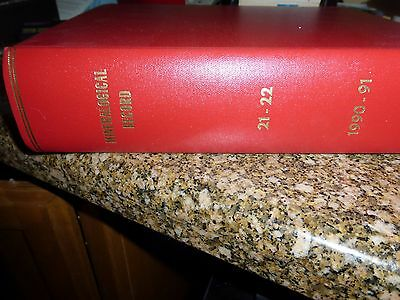 Rare Leather Bound set of Mineralogical Record, Volumes 21-22, 1990 and 1991