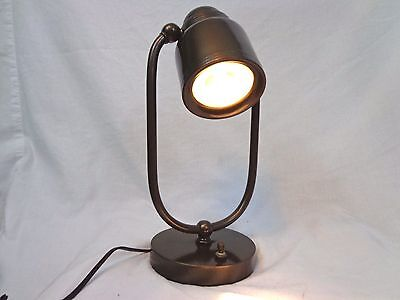 Rare Vintage 1920s- 1930s Art Deco Jewelers Lamp with Magnified Glass Lens