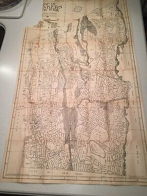 Vintage Map 1940 Yonkers ,New York  And Street Guide