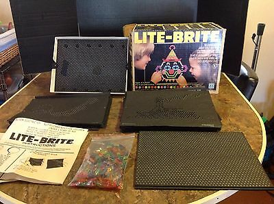 VINTAGE LITE BRITE IN BOX , 33 BLANK SHEETS PLUS 17 other sheets