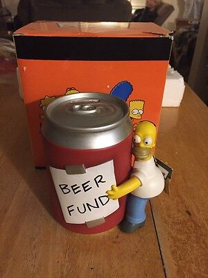 """Westland The Simpsons """"Homer & Beer"""" Can Bank BEER FUND New in Box"""