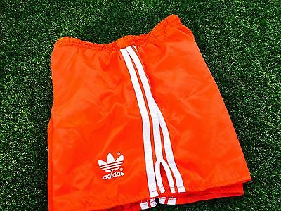Amazing Adidas Vintage Condition Shiny Satin  Shorts Red Small D5 32