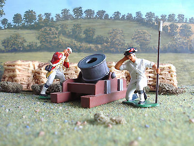 Imex American war of independence British mortar set 1:32 painted