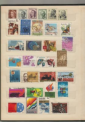Mixed Selection of Australian Stamps - over 100 used stamps