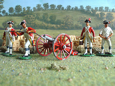 Imex American war of independence British artillery set 1:32 painted