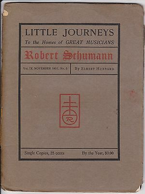 "3 Issues – ""Little Journeys to the Homes of"" Elbert Hubbard 1901-03 Roycrofters"