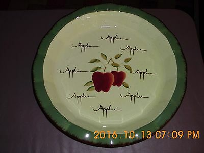 Home Interiors Apple Orchard Collection Pie Plate