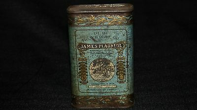 1904 St. Louis Worlds Fair James Plagniol Pure French Olive Oil Tin 1 Pint Full