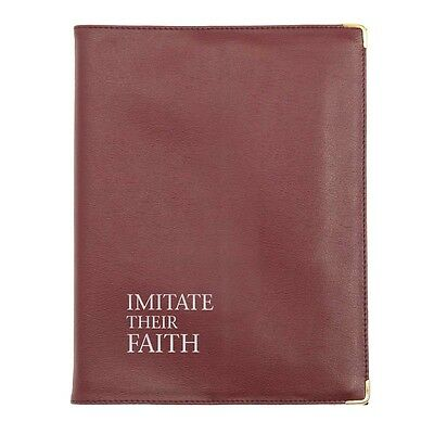 MAROON Leatherette Cover Imitate Their Faith NEW fit SIMILAR Size Book Witnesses