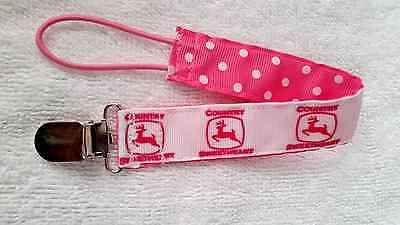 Baby Soother/Pacifier Holder w/Metal Clip/Country Girl/New