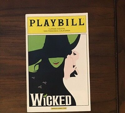 Wicked Pre Broadway Production  Playbill - Idina Menzel - Curran Theatre