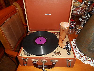 Rare Vintage Aircastle Wind Up Record Player