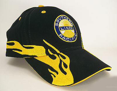 Southern Pacific Lines Railroad Embroidered Flame Cap Hat #40-0002YF