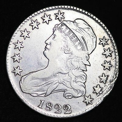 1822 Capped Bust Half Dollar CHOICE FREE SHIPPING E267 THM