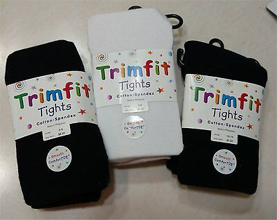 Girls Lot 3 pairs Tights Pantyhose Cotton Spandex Size 6-8, 10-14 Panty hose NEW