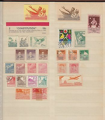 Stamps from China - selection of 27 stamps