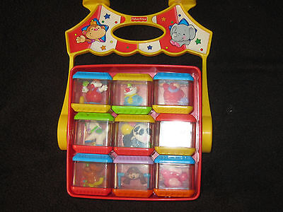 Fisher Price Peek A Block Circus Blocks & Holder Toy Lot