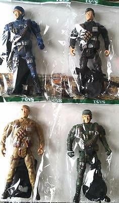 Bulk Lot 20 Mixed Military Action Figures in Packs Boys Party Favor Novelty Toys