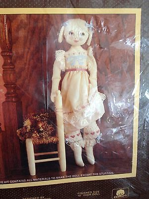 "Sunset Stitchery Emily 18"" Doll Kit #2867 Designed by Lorna McRoden"