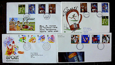 Great Britain First Day Cover  Sport  4  Covers    lot 4