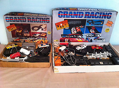 Vintage 1/43 Battery Operated/electric  Slot Car Sets  Inc.4 Cars
